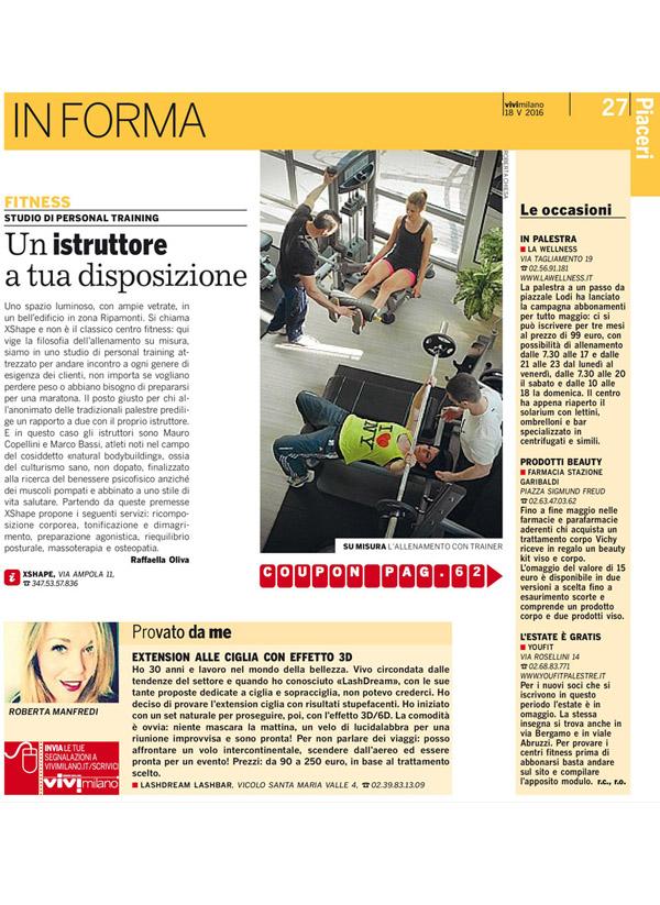 Vivi Milano, portfolio LashDream LashBar