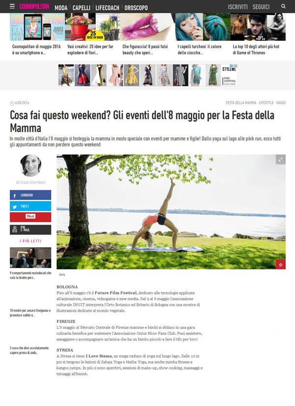Cosmopolitan, Portfolio Stresa a 360, Eleonora Tosco ufficio stampa