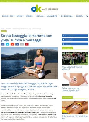 ok salute e benessere, Portfolio Stresa a 360, Eleonora Tosco ufficio stampa