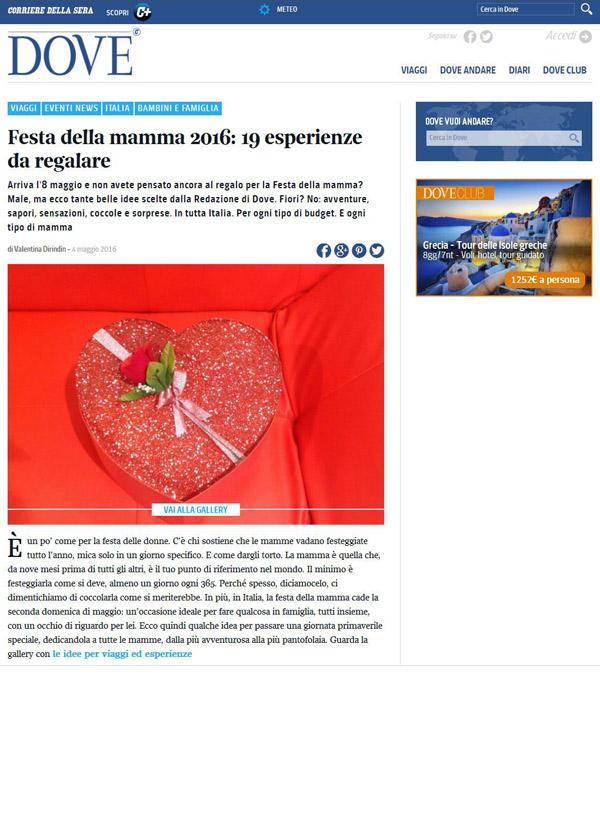 Dove Corriere della sera, Portfolio Stresa a 360, Eleonora Tosco ufficio stampa